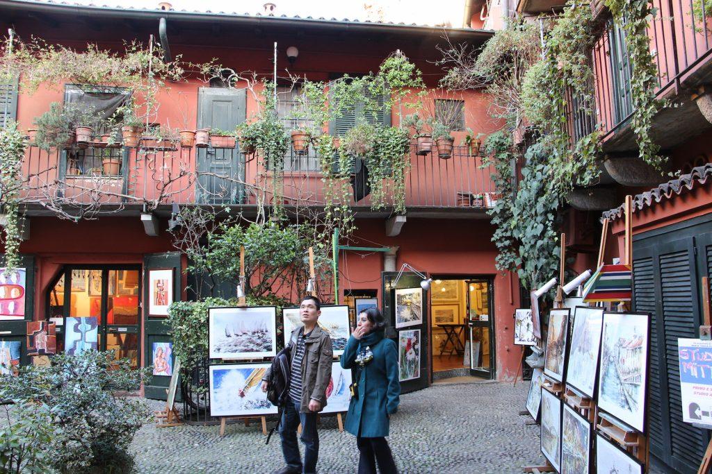 cortile degli artisti milano