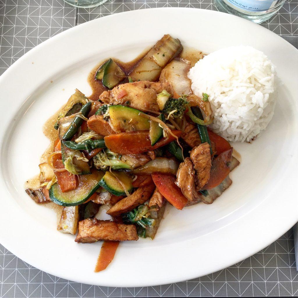 mangiare sano a milano wok pollo