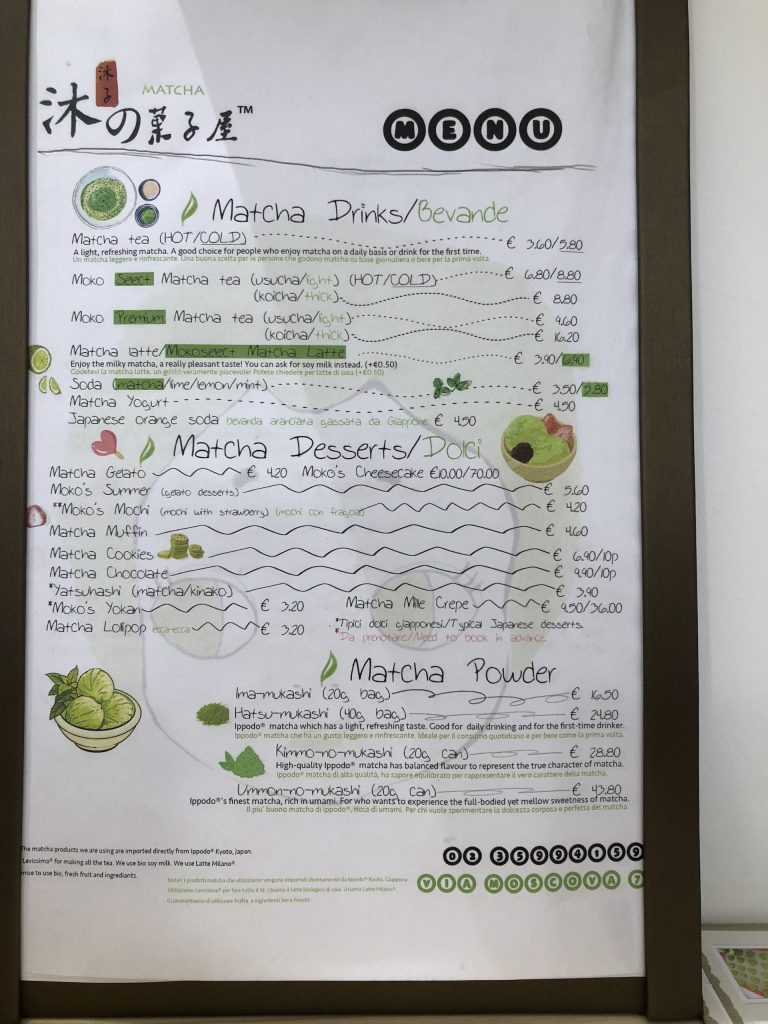 moko's matcha milano