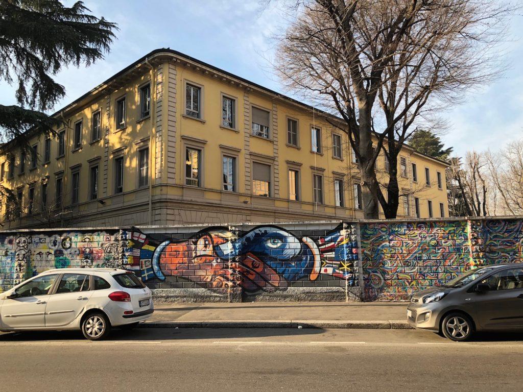 murales milano liceo caravaggio