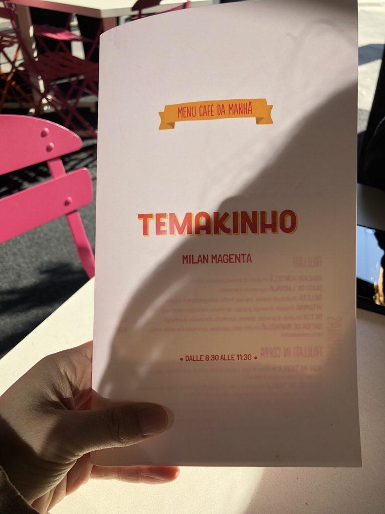 menu colazione da temakinho