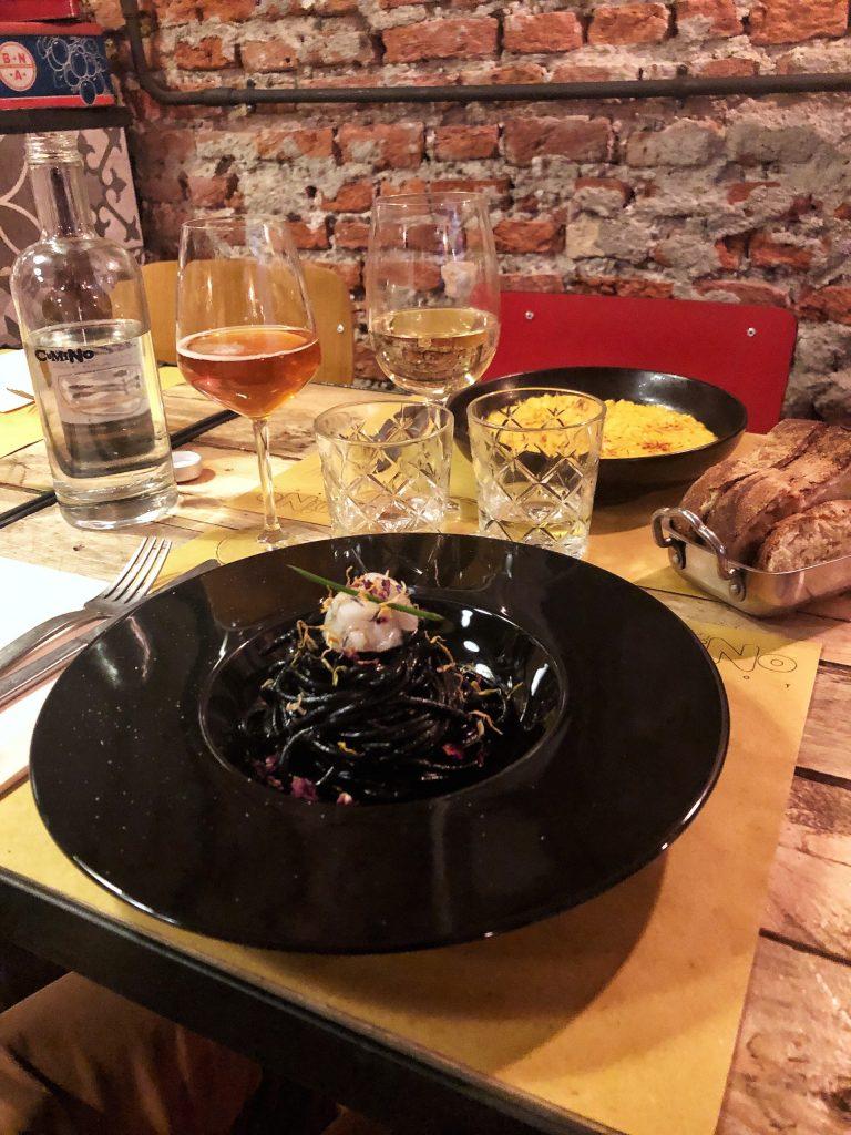 spaghetti nero di seppia cumino bistrot