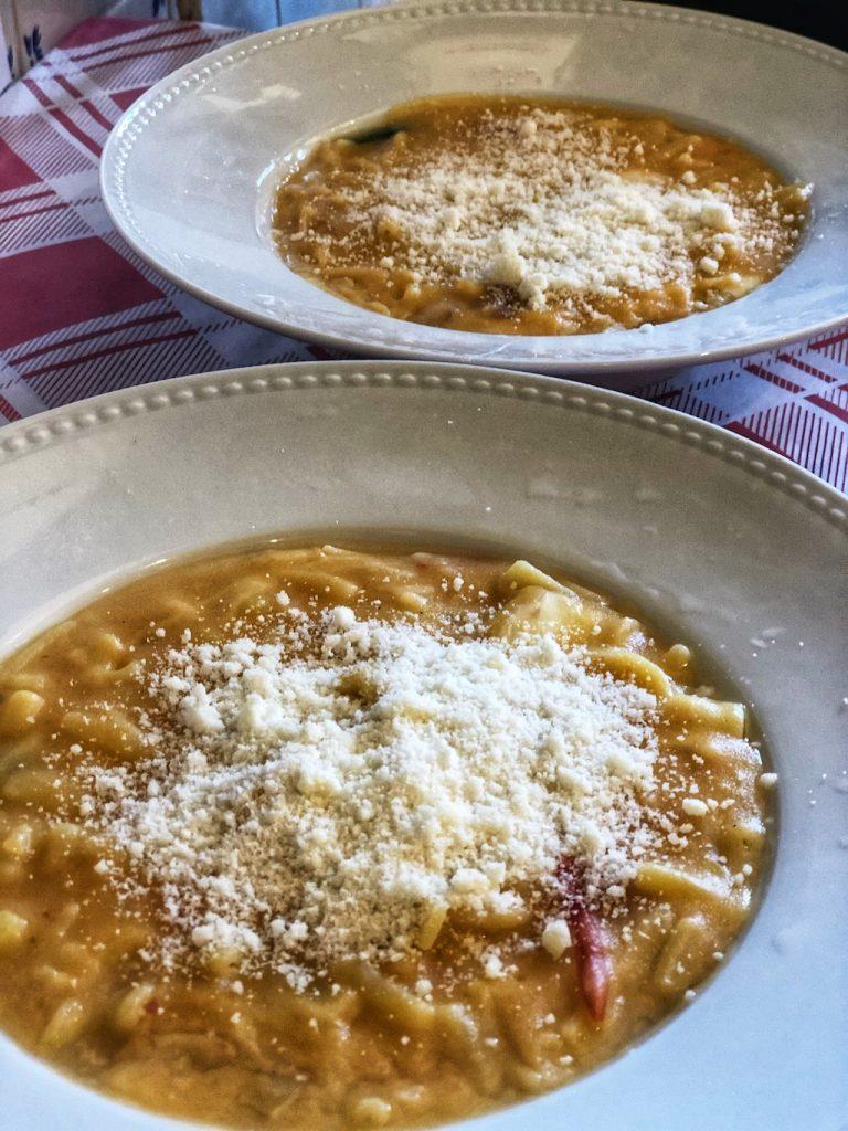 pasta e patate alla Trattoria da Nennella a Milano