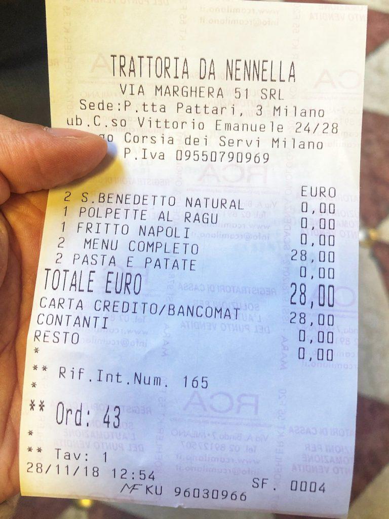 Trattoria da Nennella a Milano