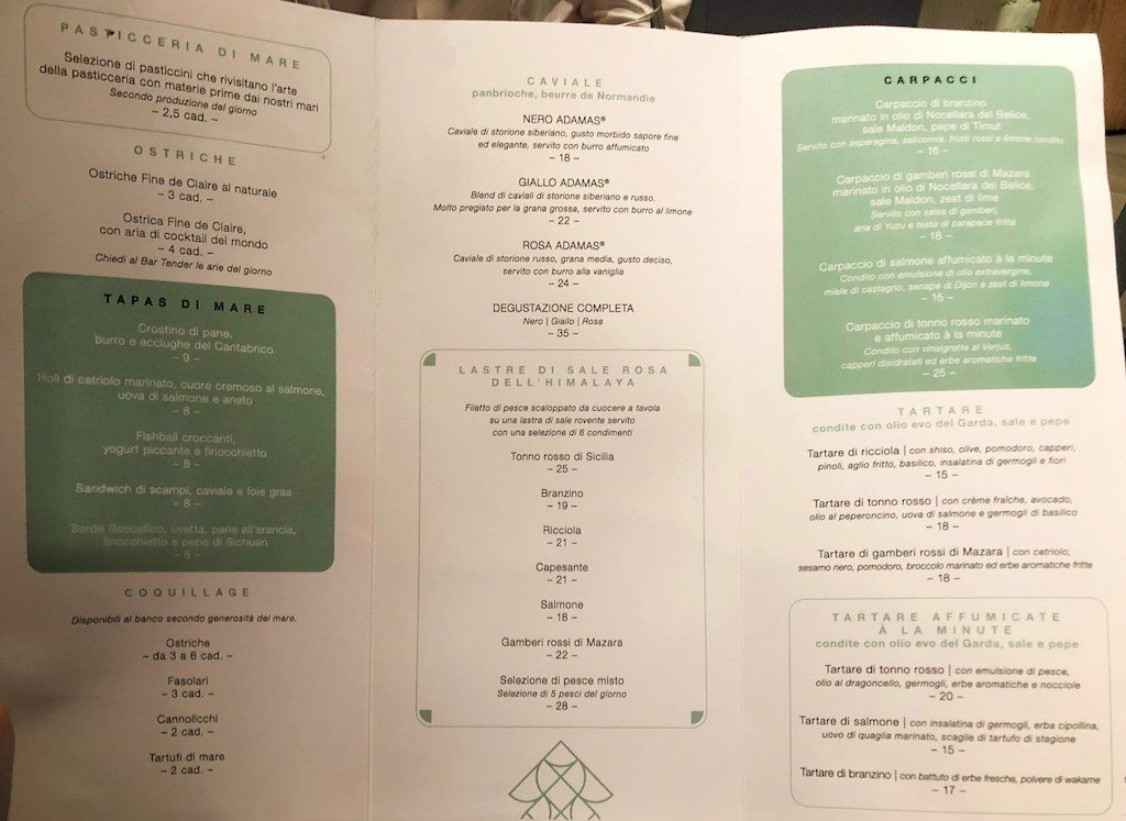 Fishion Restaurant: menu