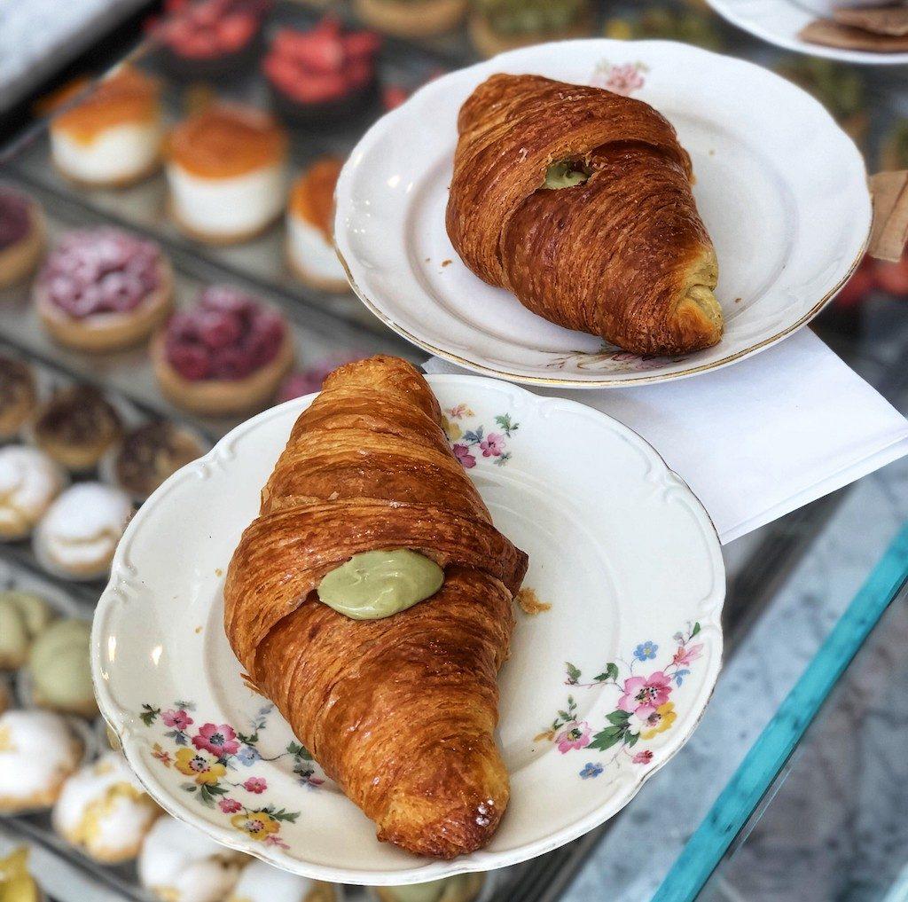 colazione a Milano: cornetto al pistacchio di gelsomina