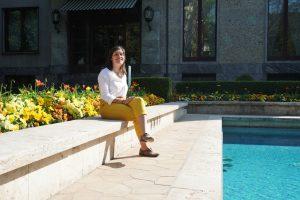 La piscina di Villa Necchi Campiglio