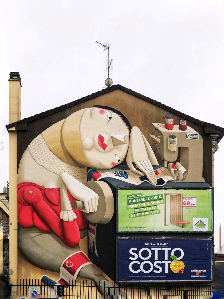 Street art a Milano: Cucimilano
