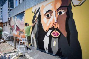Novità a Milano a giugno 2019: murales leonardo