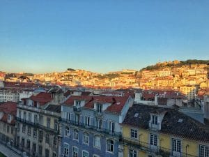 Il panorama di Lisbona vicino al Convento do Carmo