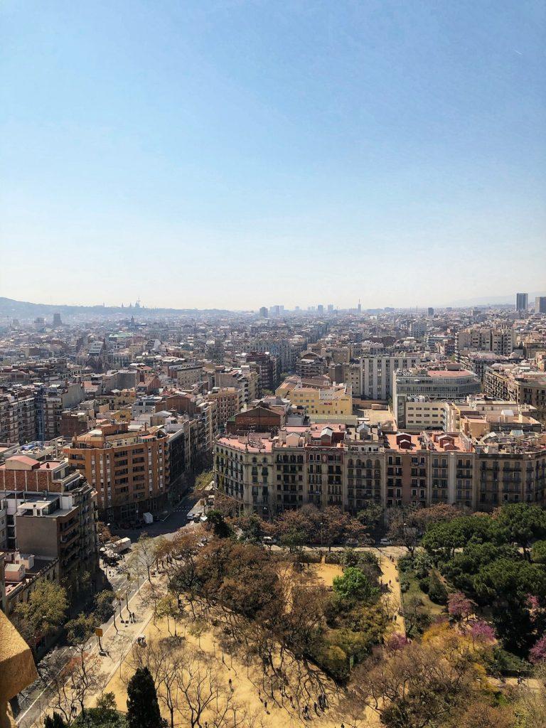La vista dalla Torre de la Pasion