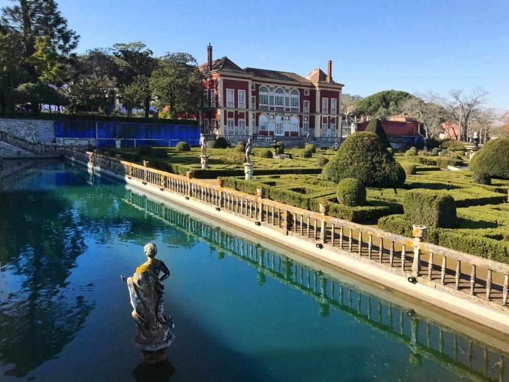 La vista dai giardini di Palácio dos Marqueses de Fronteira