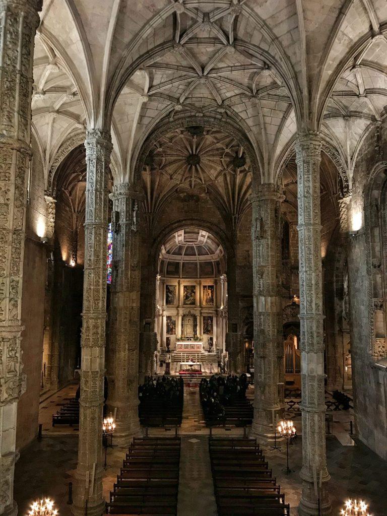 L'interno del Mosteiro dos Jerónimos