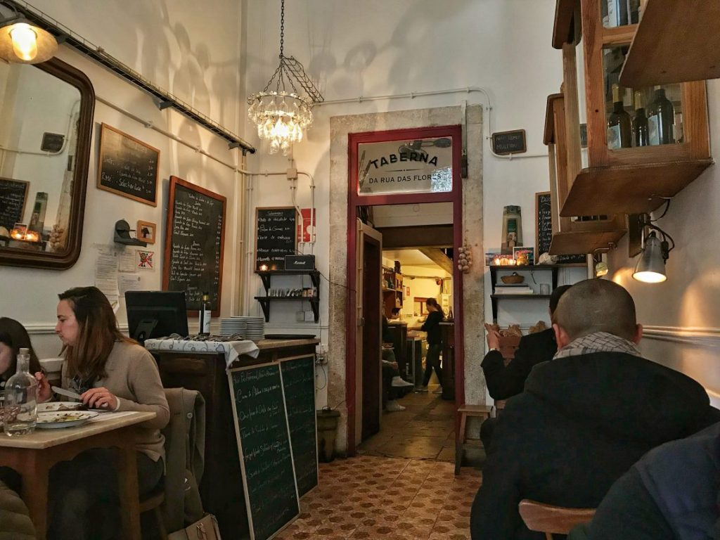 La sala della Taberna da Rua das Flores