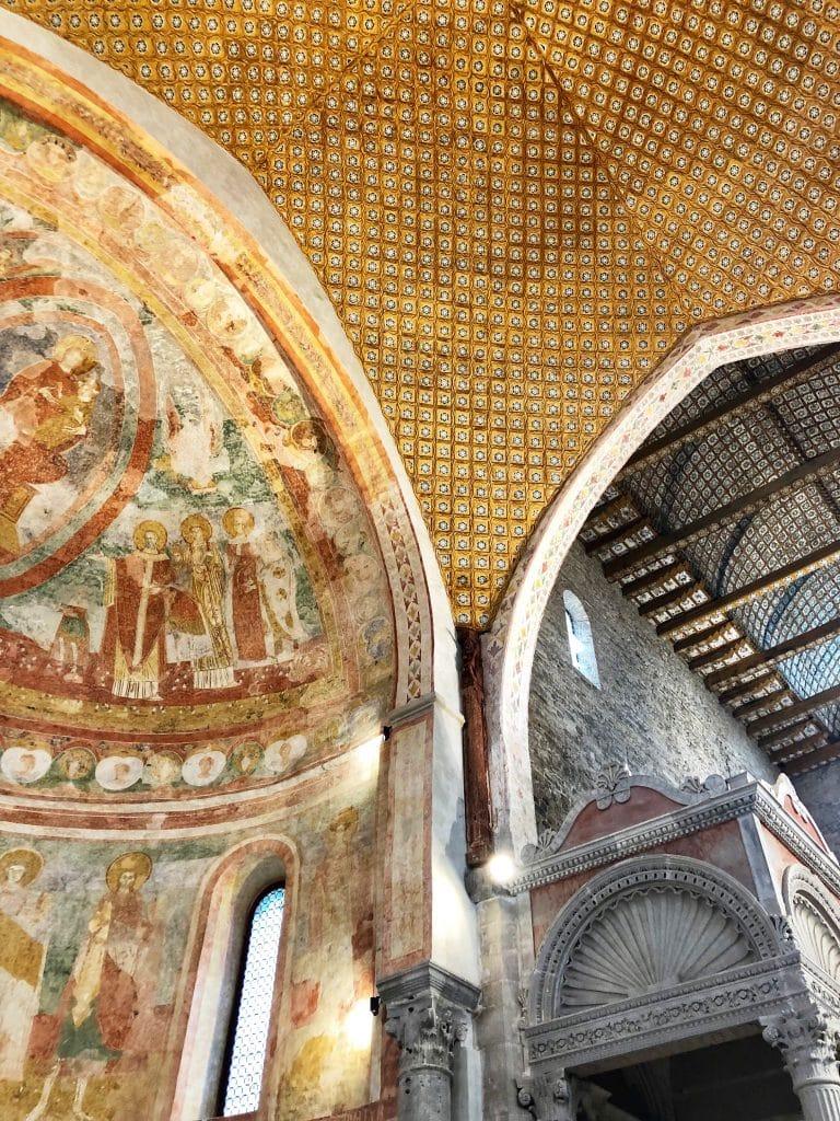 Aquileia - un dettaglio dell'interno della Basilica Patriarcale
