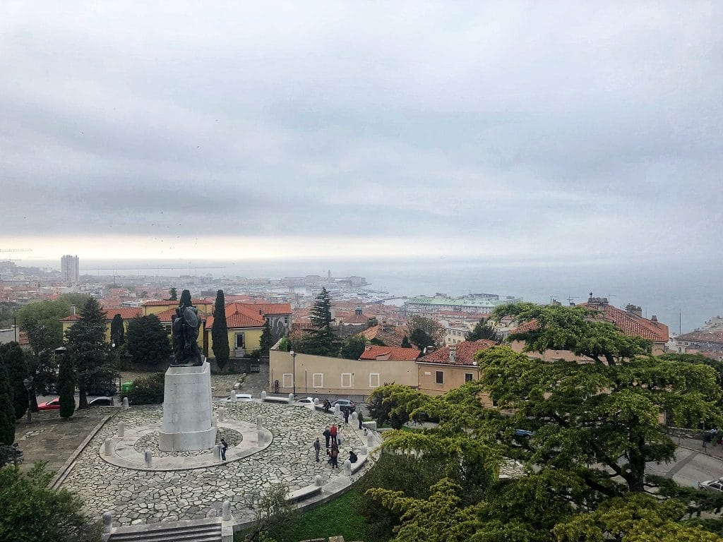 La vista dal Castello di San Giusto a Trieste