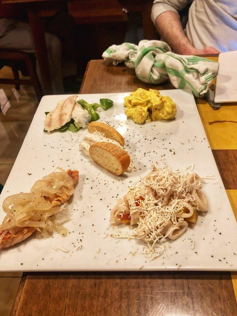 L'antipasto misto dell'Osteria ai Due Ladroni a Trieste