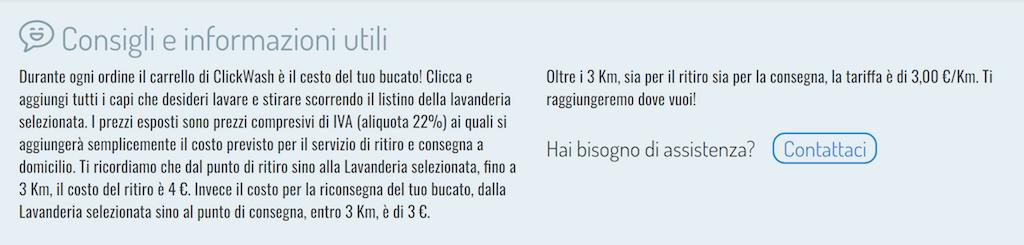 Clickwash, lavanderia a domicilio a Milano