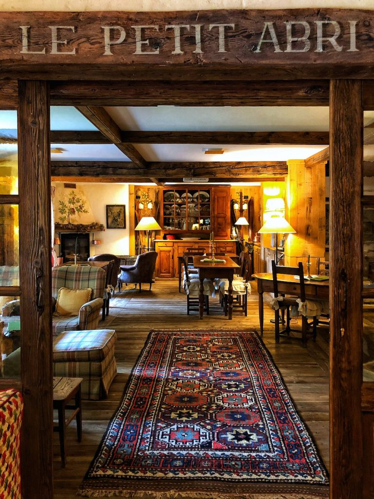Una sala dell'Auberge de La Maison