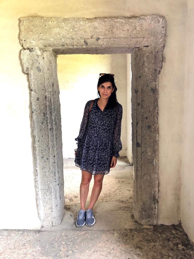 All'interno della Casa Pendente del Parco dei Mostri, Bomarzo