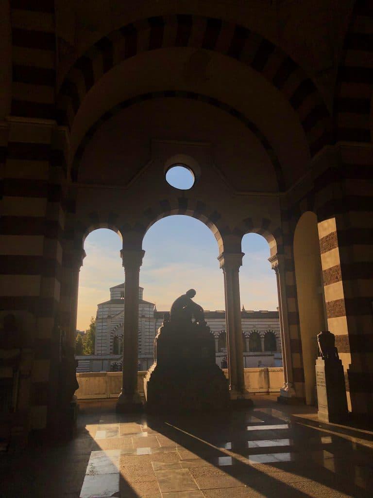 Cimitero Monumentale Milano: ala del cimitero