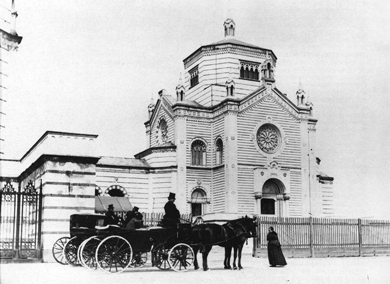 Il Cimitero Monumentale nel 1866