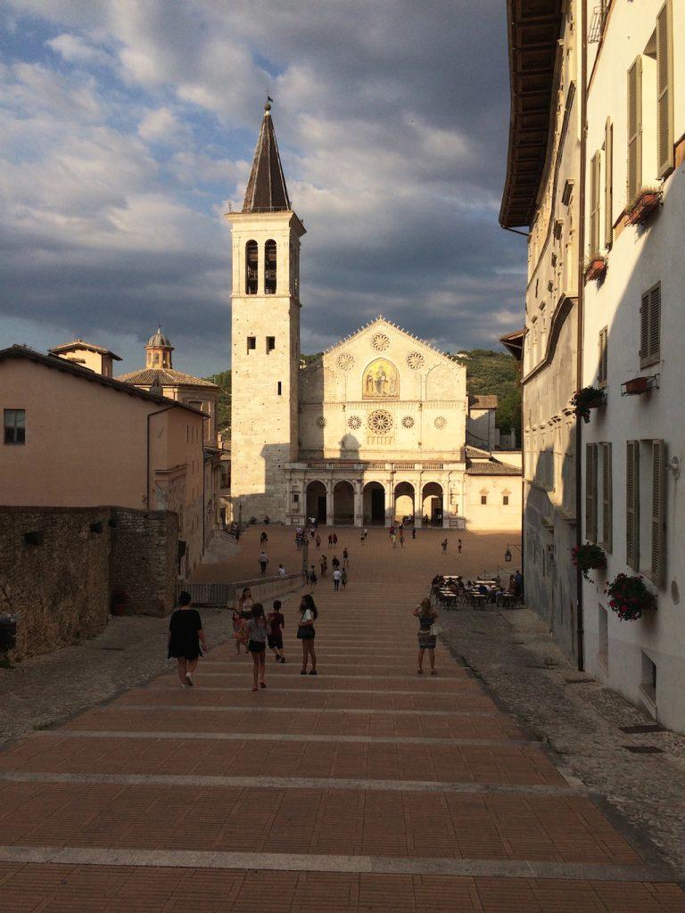 Umbria on the road: Spoleto, Piazza del Duomo