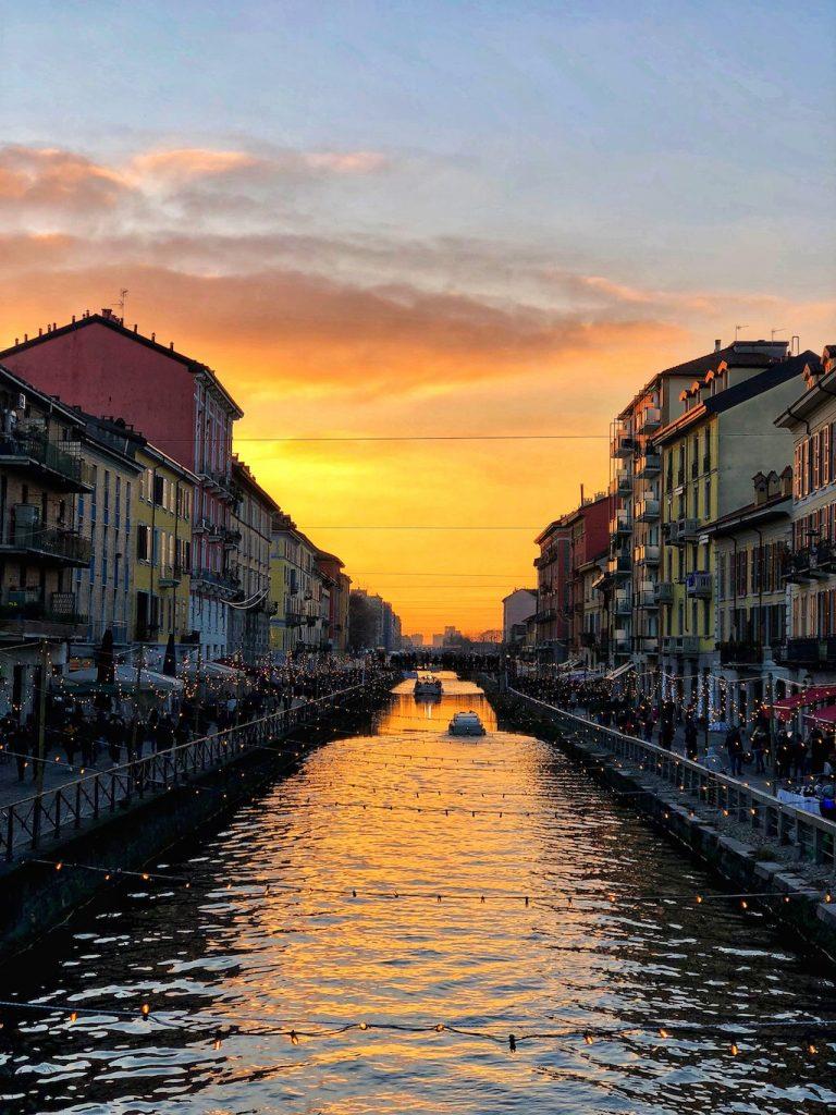 Milano in un giorno: il tramonto sui Navigli