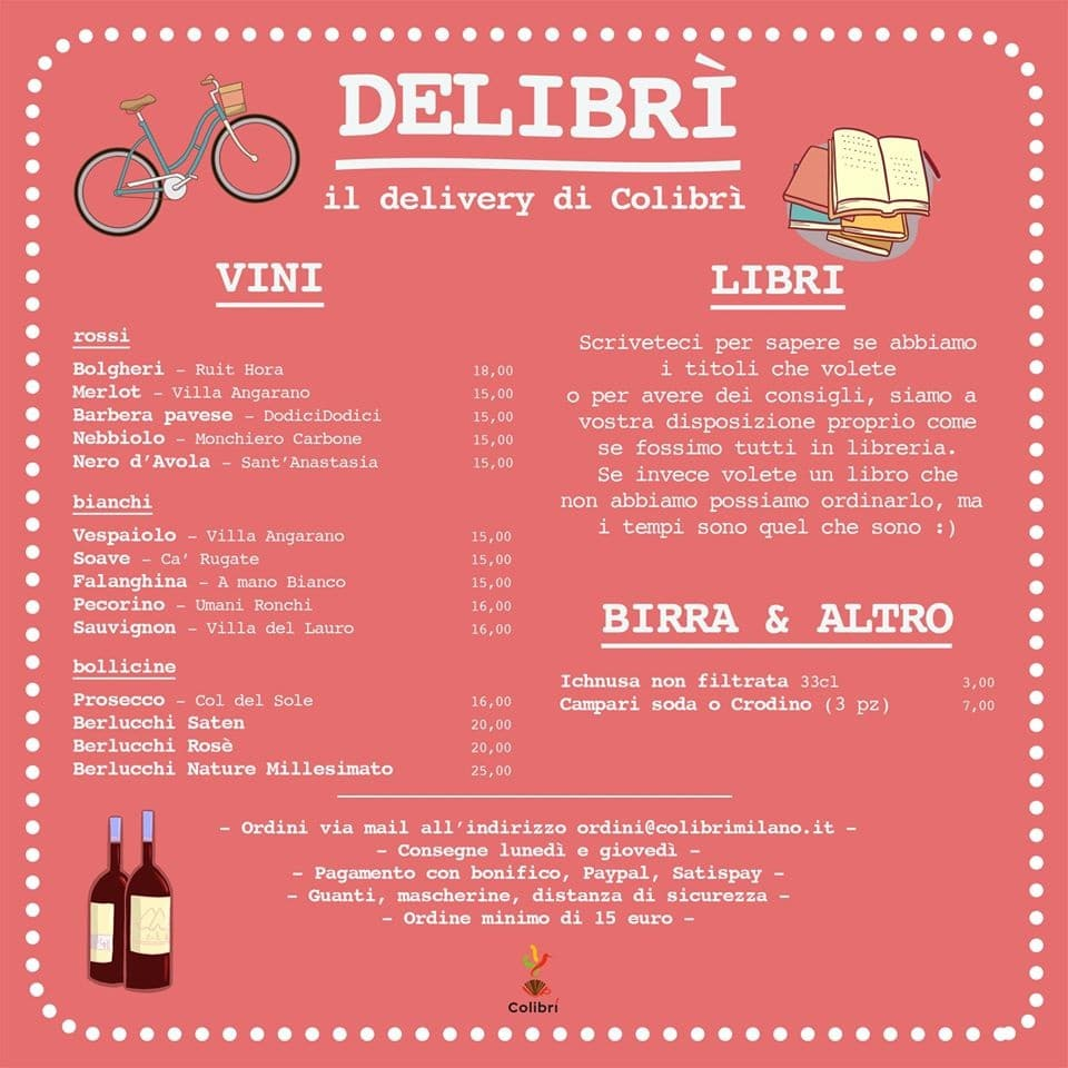 Libri a domicilio a Milano: il delivery di Colibri