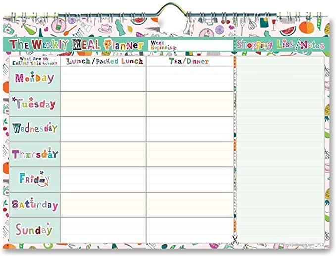 5 liste per organizzarsi: Meal planning