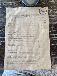 Il menu di Chunk