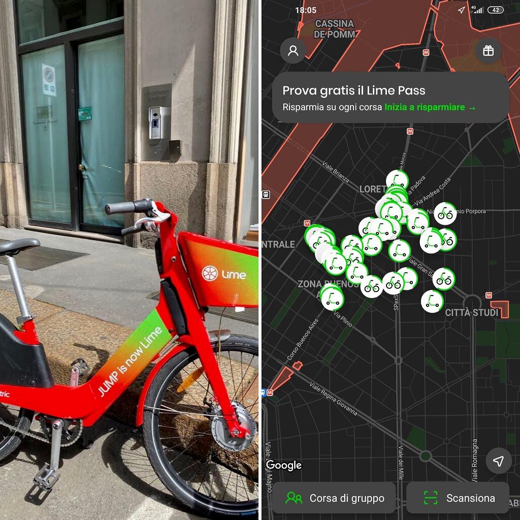 Bike Sharing a Milano: Lime