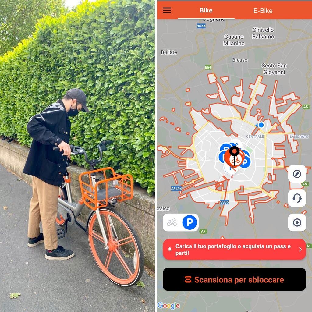 Bike sharing Milano: RideMovi