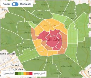 Cercare casa a Milano: Wikicasa