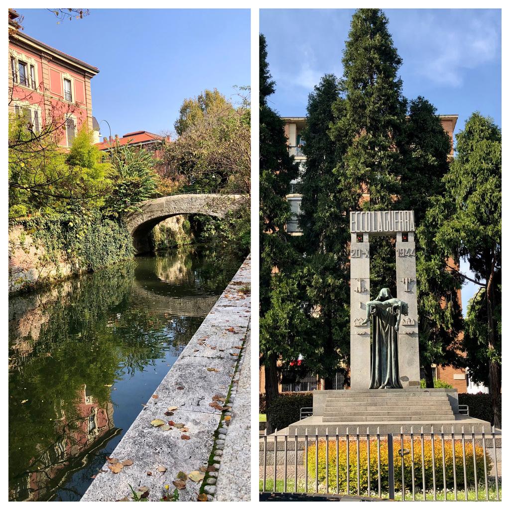 Ponte vecchio e Piazza Piccoli Martiri