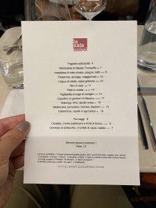 La Sala Bistrot: Il menu